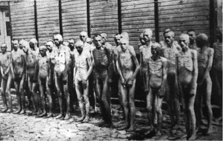 Ausgehungerte im KZ