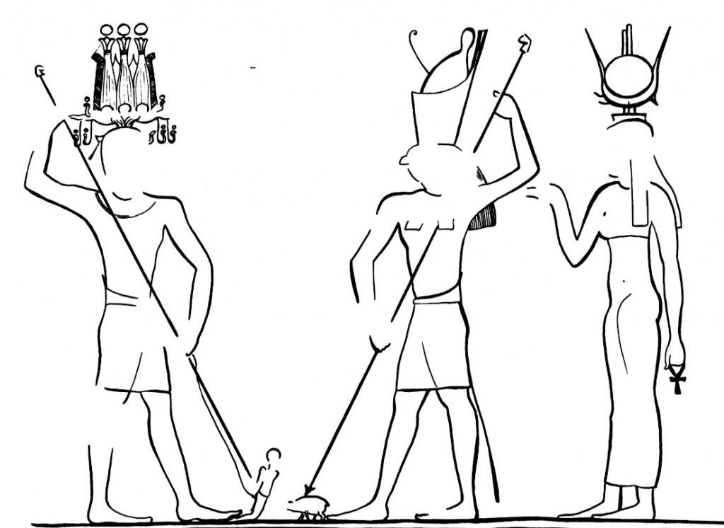 Das Schwein erstochen von Horus