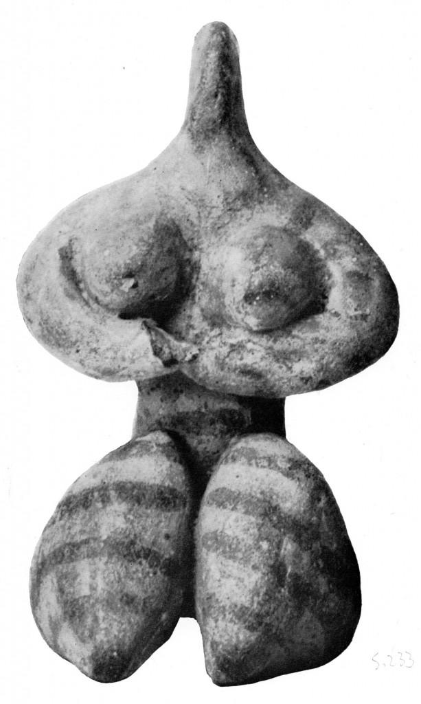Nackte Göttin von Tell Halaf (nach Margueron)