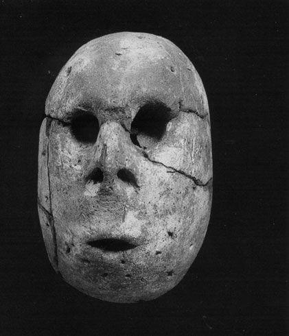 Totenmaske aus Merimde