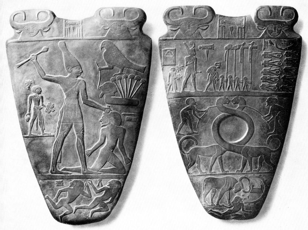 Narmer-Palette beidseitig