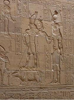 Speeren des Nilpferdes Edfu