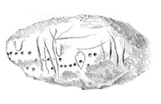 Steinblock-Zeichnung