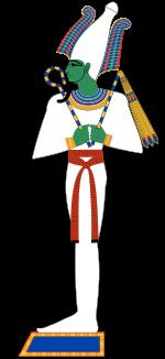 Osiris mit Krummstab und Flagellum